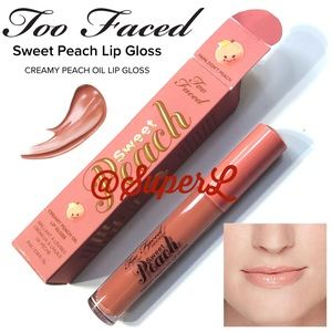 2/$25 Too Faced Sweet Peach CREAMY OIL LIP GLOSS
